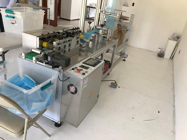 M�quina para fabricaci�n de cubrebocas